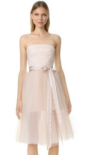 Коктейльное платье Ballerina Monique Lhuillier. Цвет: розовый