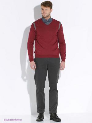 Пуловер Delahaye. Цвет: бордовый