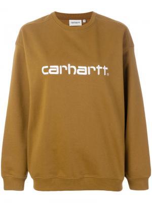 Толстовка с принтом логотипа Carhartt. Цвет: коричневый