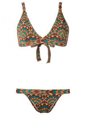 Printed bikini set Gig. Цвет: коричневый