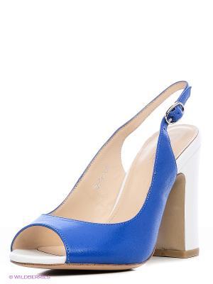 Босоножки EL ROSSO. Цвет: синий