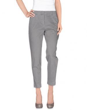 Повседневные брюки CAPPELLINI BY PESERICO. Цвет: серый