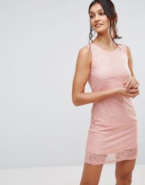 Pussycat London Кружевное платье. Цвет: розовый