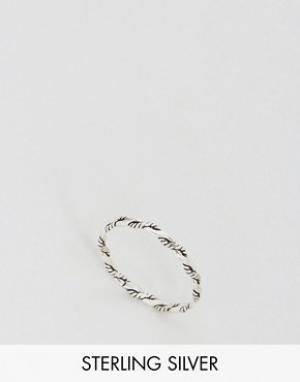 Kingsley Ryan Серебряное витое кольцо. Цвет: серебряный