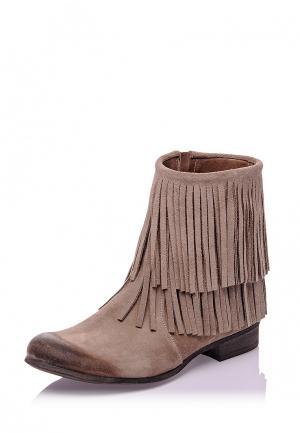 Полусапоги Bueno Shoes. Цвет: бежевый
