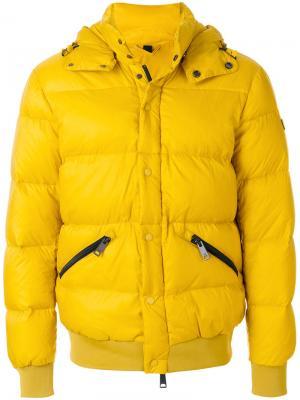Классический пуховик Armani Jeans. Цвет: жёлтый и оранжевый