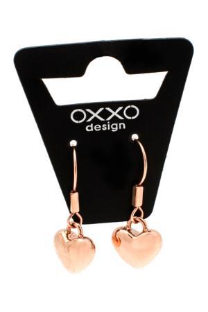 Серьги OXXO design. Цвет: розовое золото, стальной