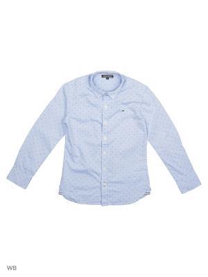 Рубашка Tommy Hilfiger. Цвет: голубой