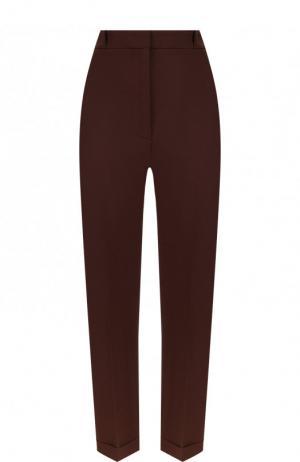 Однотонные укороченные брюки со стрелками Jacquemus. Цвет: коричневый