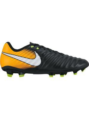 Бутсы TIEMPO LIGERA IV FG Nike. Цвет: черный, белый