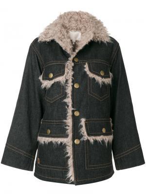 Oversized denim pocket jacket Marc Jacobs. Цвет: чёрный