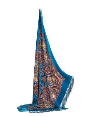 Платок,115 x 115 cm Nothing but Love. Цвет: голубой, красный, оранжевый