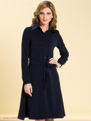 Платье LOVE&LIGHT. Цвет: темно-синий