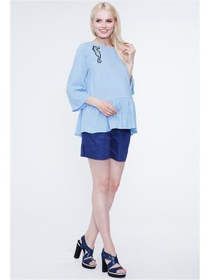 Блузка TUTTA MAMA. Цвет: голубой