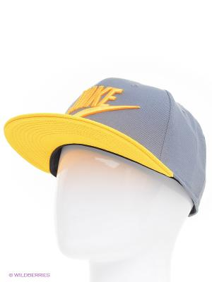 Бейсболка Nike. Цвет: серый, желтый