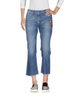 Джинсовые брюки-капри 19.70 NINETEEN SEVENTY. Цвет: синий