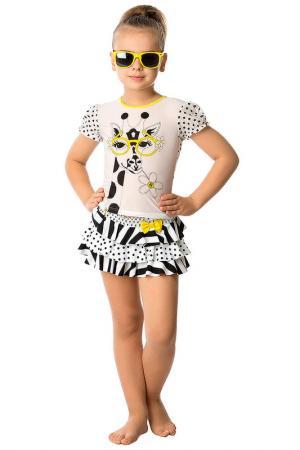 Пляжный комплект: юбка, топ Arina Festivita by Lora Grig. Цвет: мультицвет