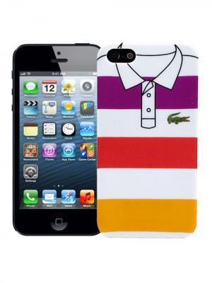Чехол для iPhone 5/5s Purple, red, yellow stripes, серия Sports shirt Kawaii Factory. Цвет: желтый, фиолетовый, красный
