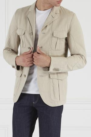 Пиджак с карманами Montedoro. Цвет: бежевый
