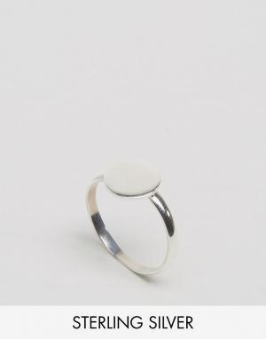 Kingsley Ryan Серебряное кольцо с диском. Цвет: серебряный