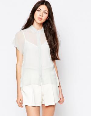 By Zoe Прозрачная блузка. Цвет: серый