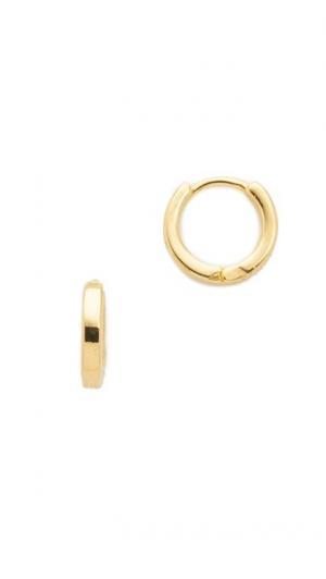 Серьги-кольца Hug Cloverpost. Цвет: коричневый