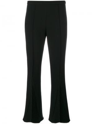 Укороченные брюки с плиссировкой Marco De Vincenzo. Цвет: чёрный