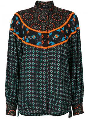 Блузка с бусинами Michel Klein. Цвет: чёрный