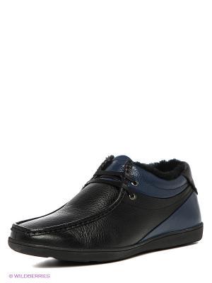Ботинки MILANA. Цвет: черный, синий