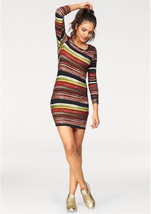 Платье AJC. Цвет: красный/зеленый/бордовый