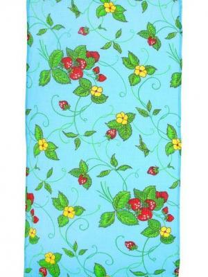 Полотенце вафельное набивное, 40х70 см, набор 3 штуки Радужки. Цвет: голубой, синий