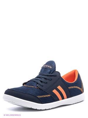 Кроссовки Escan. Цвет: темно-синий, оранжевый