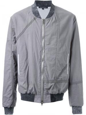 Куртка на молнии Longjourney. Цвет: серый