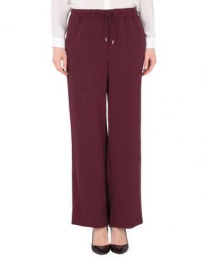 Повседневные брюки WOOD. Цвет: красно-коричневый