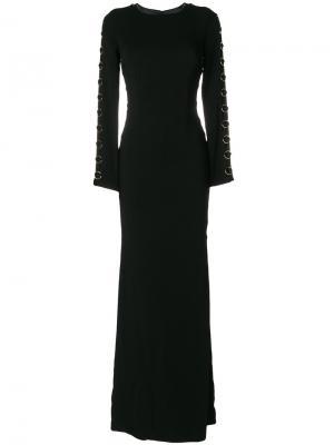 Вечернее платье с кольцом Murmur. Цвет: чёрный