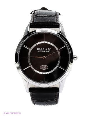 Часы HAAS & Cie. Цвет: темно-коричневый, серебристый