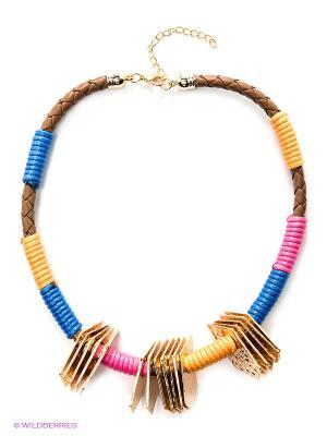 Колье Vittorio Richi. Цвет: золотистый, синий, оранжевый, розовый