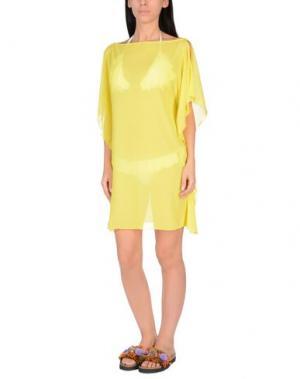 Пляжное платье FISICO. Цвет: желтый