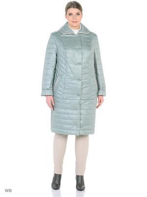 Утепленное пальто MONTSERRAT. Цвет: светло-зеленый