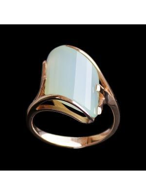 Кольцо Диковинка. Цвет: золотистый, зеленый