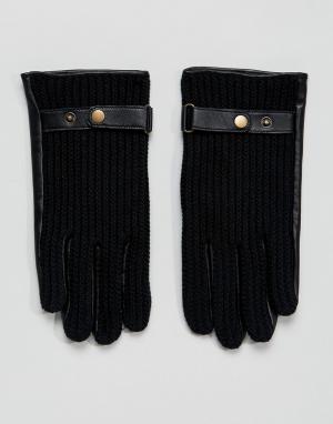ASOS Черные кожаные автомобильные перчатки. Цвет: черный