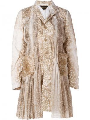 Плиссированное пальто Comme Des Garçons. Цвет: телесный
