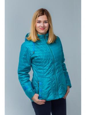 Куртка Пралеска. Цвет: бирюзовый