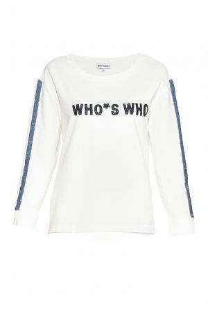 Whos Who Свитшот с пайетками SF-184291 Who's. Цвет: белый