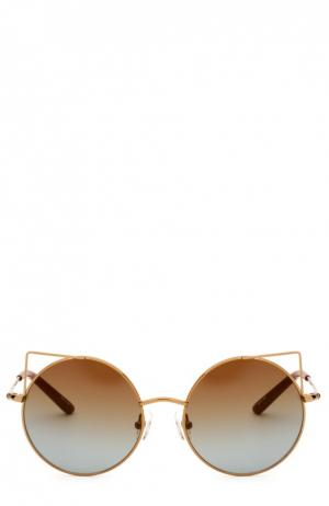 Солнцезащитные очки Matthew Williamson. Цвет: коричневый
