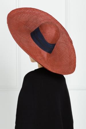 Соломенная шляпа Lola. Цвет: коричневый