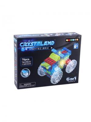 Светящийся конструктор Crystaland Трактор 6в1 76 деталей Neocube. Цвет: фиолетовый