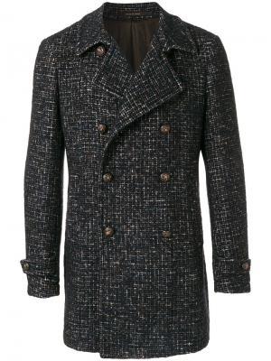 Двубортное пальто Charlie Tagliatore. Цвет: синий