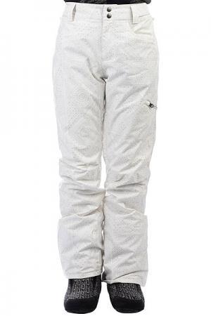 Штаны сноубордические женские  Suka+ Cool Wip Billabong. Цвет: белый,серый