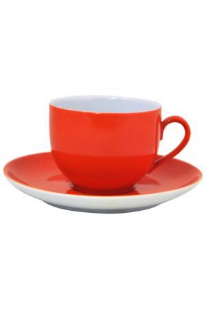 Чашка с блюдцем KAHLA. Цвет: оранжевый